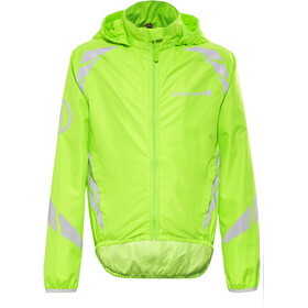 Endura Luminite II Jas Kinderen, hi-viz green/reflective